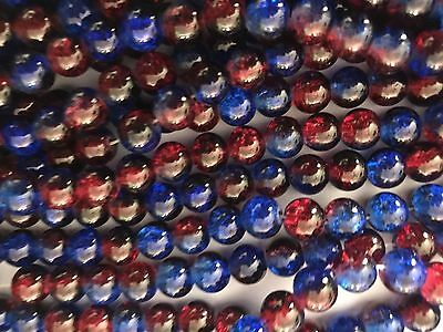 Crackle Crystal Glass Frosted Glass Beads Spacers Charms 8 Mm (505 Pieces) Sets
