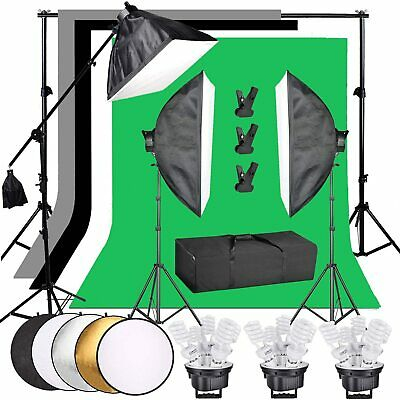 4x 25W LED Softbox Photography Studio Continuous Lighting Kit Video Light Stand