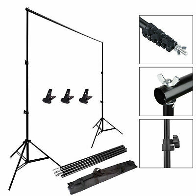 2x3m Photography Studio Background Backdrop Support System Set Stand Crossbar