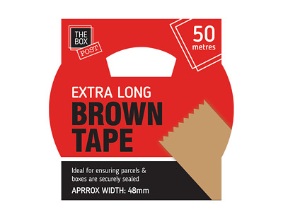 Extra Long Brown Tape Length 50m,Ideal for Securing Boxes,Strong and Durable