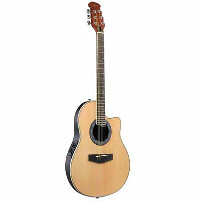 ADM Full Size Acoustic Electric Cutaway Guitar, Round Back Round Hole, 3-Band EQ