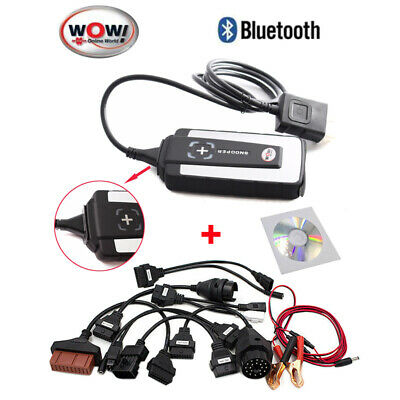 Outil de diagnostique Auto WOW Snooper V5.008 R2 Bluetooth Scanner avec 8 câbles