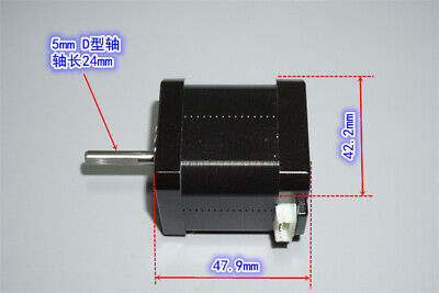 NEMA17 2-phase 4-wire Stepper Motor 1.8 Degree D-Shaft For 3D Printer /CNC Robot