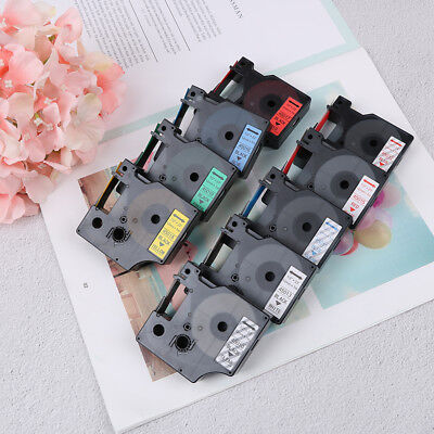 Compatible for DYMO 12mm D1 Black on Color Label Tape 1/2'' LabelManager Refil X