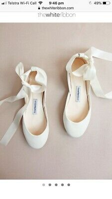 Wedding Bridal Shoes Ballet Flat Size EU40 Aus 9