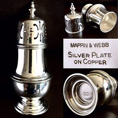"""Vintage/Antique (1930s) Mappin & Webb 6.5""""/16cm Silver Plated Sugar Sifter 157g"""