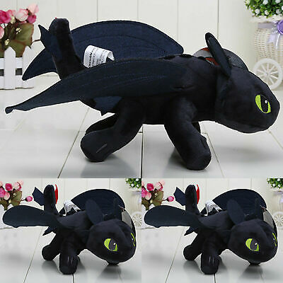 How to Train Your Dragon Toothless Night Fury Stuffed Plush Doll Soft Toys Gifts