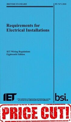 IET WIRING REGULATIONS BS 7671 2018 18th Ed Blue 9781785611704