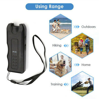 Ultrasonic Dog Chaser Stop Anti Aggressive Animal Attack Repeller Pet Trainer