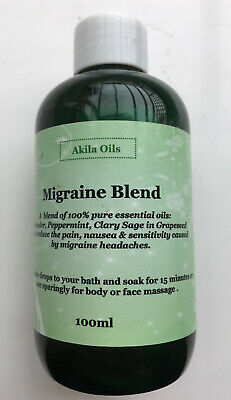 Migraine / Headache Blend 100ml Select from Lotion or Oil Base