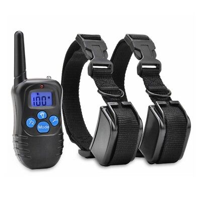 1/2 Dog Electric Shock Collar 300m Remote Control Waterproof IP67 Pet Training