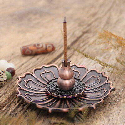9 Hole Lotus Incense Burner Holder Flower Statue Censer Plate For Sticks Cone AU