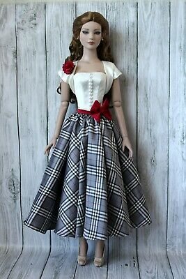 Handmade clothes for Tonner doll. Outfit dress gown for American Model doll