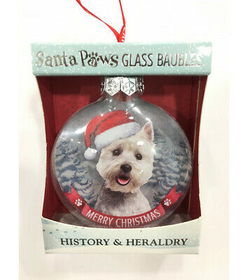 AD-W33CB West Highland Terrier Dog Christmas Tree Bauble Decoration Gift