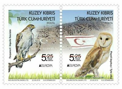 TURKISH NORTHERN CYPRUS/2019 -  EUROPA CEPT STAMPS (BIRDS) (Owl), MNH