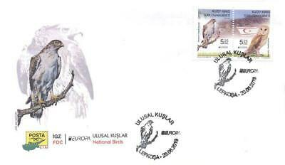 TURKISH NORTHERN CYPRUS/2019 - (FDC) EUROPA CEPT STAMPS (BIRDS) (Owl), MNH