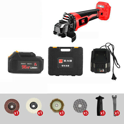 Cordless Angle Grinder Brushless 3000mAh Rechargable Grinding Cutting Machine