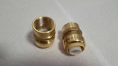 """1"""" FPT (Female Pipe Thread) Push Fitting~~Bag of 5~LEAD FREE!"""