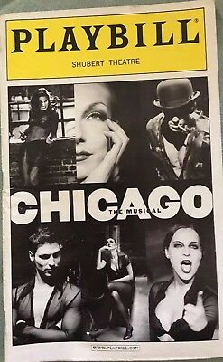 Playbill from the Musical Chicago