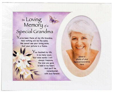 In Loving Memory of a Special Grandma Photo Frame Mount Tribute Memorial Plaque