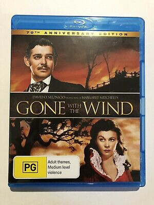 Gone With The Wind Blu Ray Movie 🍿 70th Anniversary Edition Rated PG Classic