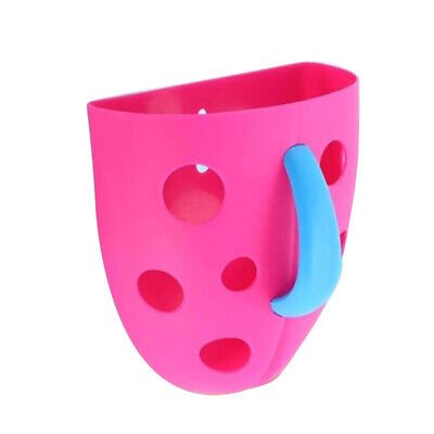 New Funny Security Plastic Baby Kids Bath Toy Scoop Storage Hanging box(Ros T9G7