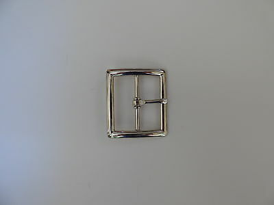 "Center Bar Buckle 1 1/2"" Nickel plated"
