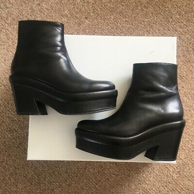 3e7211e1f Other Stories Black Chunky Platform Ankle Boots Size 4 90s Grunge Blogger