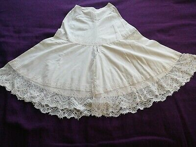 Victorian  Cotton And Handmade Lace Bloomers original !