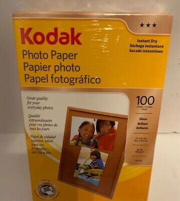 "Kodak Photo Paper 1743327 100 Sheets Gloss 4"" x 6"" Sealed"