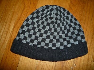 2713f46ee 1 BOYS CHECKERED Knit Hat Stocking Cap NWT Red/Navy/Brown/Black ...