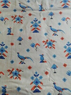 Antique Art Deco 1920s Printed Bed Cover Small double