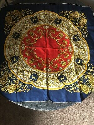 Vintage Liberty Silk Scarf Horses Made In Switzerland