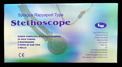 Lyall Willis Sprague Rappaport Type Stethoscope & Accessories - Excellent