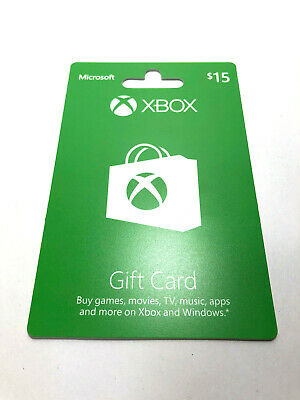 $15 XBOX Gift Card - Physical Card Loaded and Ready To Use - Fast Shipping