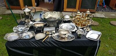 A Job Lot Of 27 Vintage Silver Plated Items.many Makers Names.8kgs In Weight.