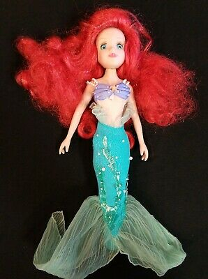 "Disney's Little Mermaid ""Ariel"" Porcelain Doll Brass Key Keepsake 2006"