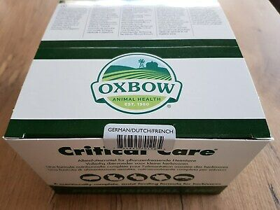 Critical Care Oxbow 14 x 36 gr Alimentation assistée pour herbivore