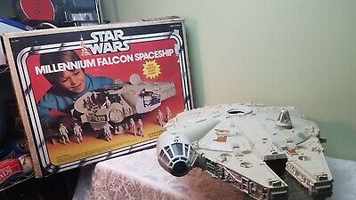 Vintage 1977 Star Wars Millennium Falcon W/Box Kenner W/Jedi Ball