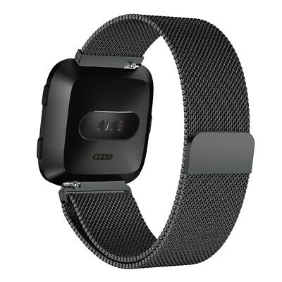 For Fitbit Versa Sport Watch Band Replacement Milanese Magnetic Clasp Stain H6A2