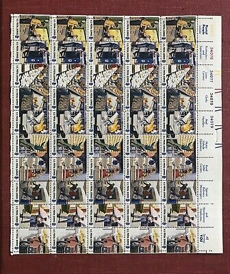 Us Scott 1489 - 98 Pane Of 50 Us Postal Service Stamps 8 Cent Face Mnh