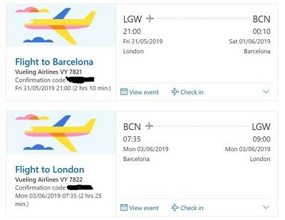 2 Return Flights to Barcelona for the Champions League Final from London Gatwick