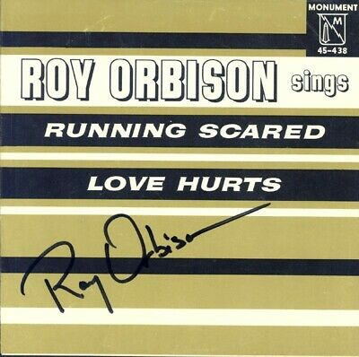 Roy Orbison - Record Cover Signed