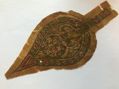 Ancient Egyptian Coptic Textile Fragment 5th-6th century AD Christian BEAUTIFUL