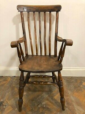 Antique Ash and Elm Armchair, Fireside or Farmhouse Chair - Delivery Available
