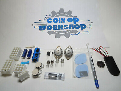 Arcade Midway 90412 Power Supply Rebuild Kit, + Connectors & Battery Back Up Kit