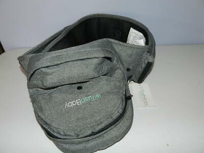New TushBaby Safety Certified Hip Seat Baby Carrier Grey - New With Tags