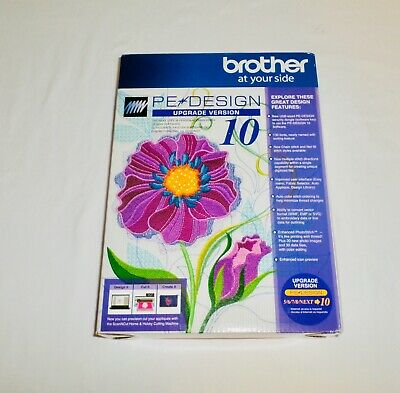 Brother PE Design Upgrade From 5 6 7 8 Next To 10 Embroidery Digitizing Software