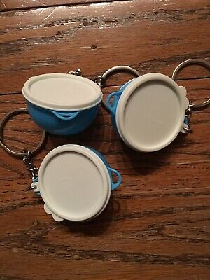 Tupperware That's A (Thatsa) Bowl Keychain Container (Raindrop Color) New