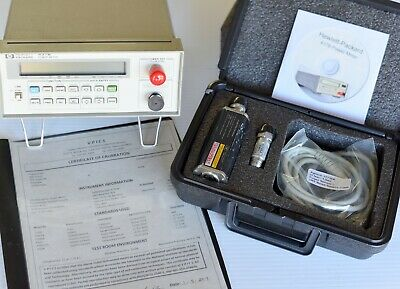 HP Agilent 437B Power Meter, Black 8484A Sensor, Complete Calibrated System